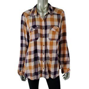 Maurices Shirt XL Plaid Soft Flannel Top Purple